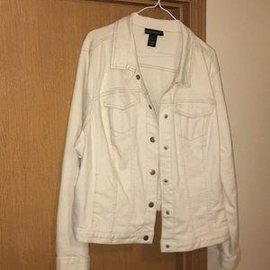 Cream denim jacket